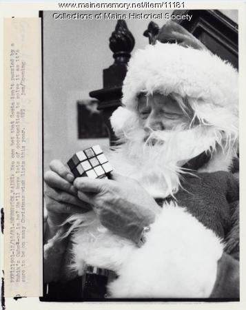 Santa Claus with Rubik's Cube, Brunswick, 1981
