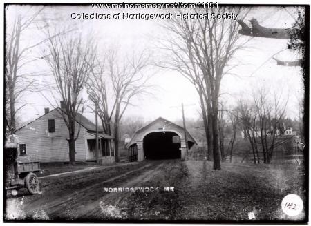 Covered Bridge, Kennebec River, ca. 1930