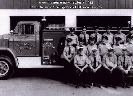 Norridgewock firefighters, 1960