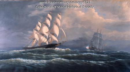 Slave ship evading the Royal Navy, 1878