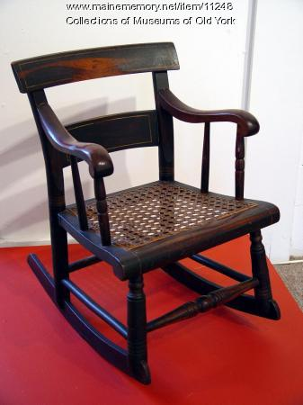 Sheraton child's rocking chair, Portland, ca. 1850