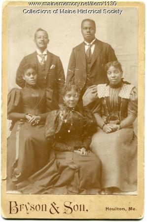 Five seated African American adults, ca. 1900