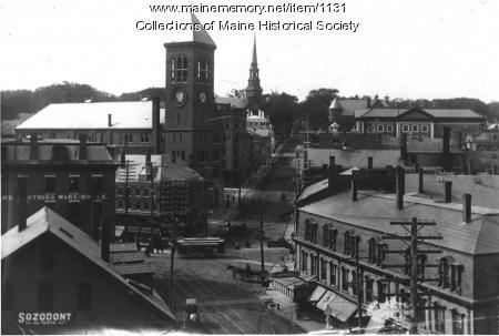 Hammond Street, Bangor, ca. 1900