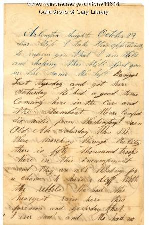 W.H. Hammond letter to wife, ca. 1862