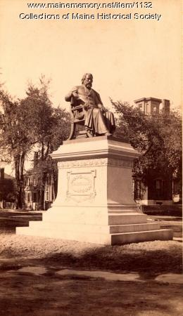 Statue of Longfellow, ca. 1890