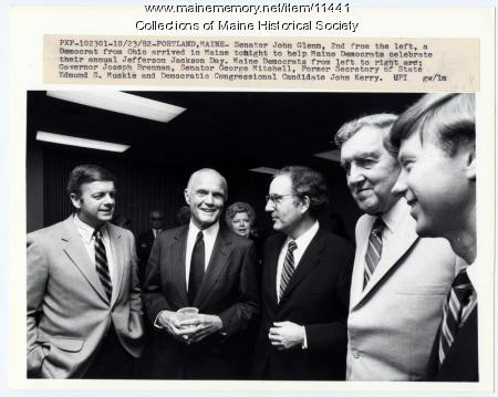 John Glenn with Maine Democrats, 1982