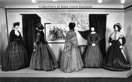 Five dresses, ca. 1860s