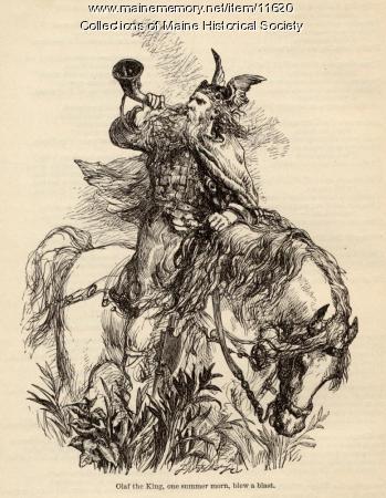 """Illustration for poem """"The Saga of King Olaf"""", ca. 1880"""