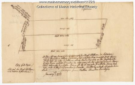 Land surveyed for Hugh Wilson, Topsham, 1761