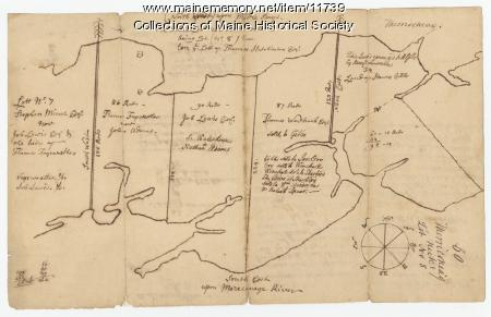 Maine Memory Network  Map Of Harpswell 1771