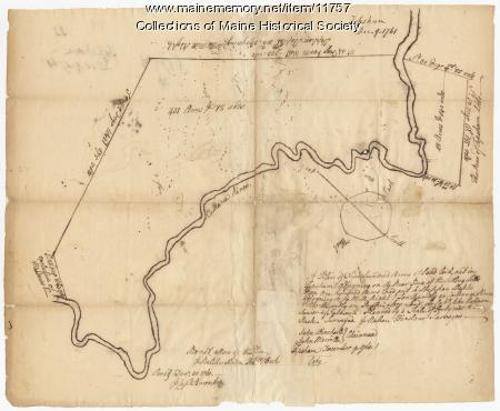 Map of Topsham, 1761, John Robinson lot, Map #32