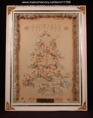 Graduation memento shadow box, Van Buren, 1906