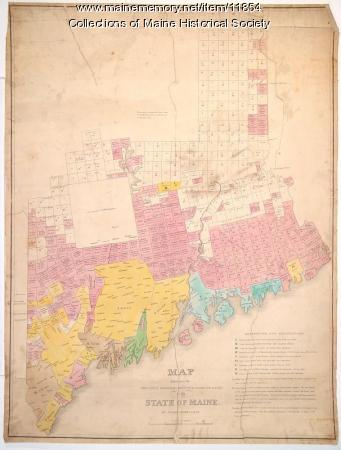 Moses Greenleaf's Map of the inhabited part of the state of Maine, 1829