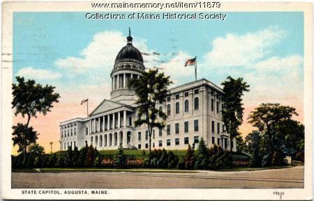 State Capitol, Augusta, ca. 1927