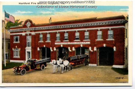 Hartford fire station, Augusta, ca. 1920