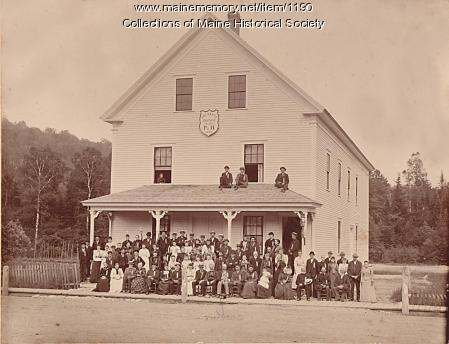 Franklin Grange Hall, Bryant Pond, ca. 1892