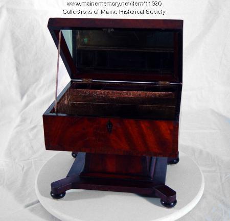 Dresser box, ca. 1838