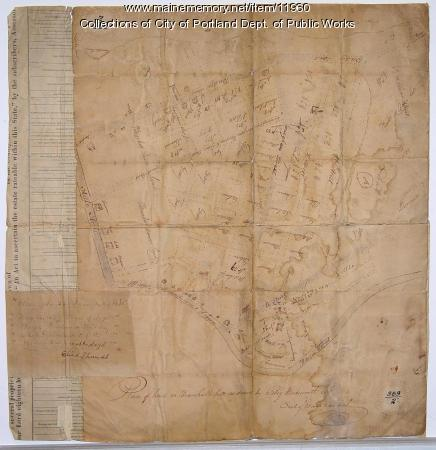 Plan of land on Bramhall Hill by Peleg Wadsworth