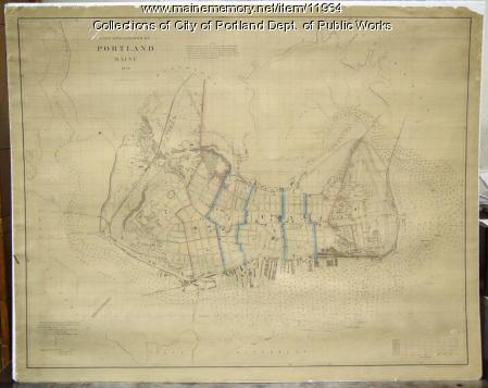 Map of the City and Harbor of Portland, 1870