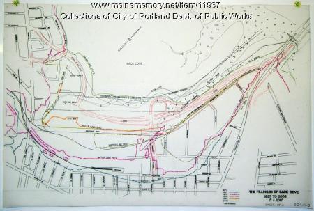 Back Cove fill history, Portland, 1837-2003