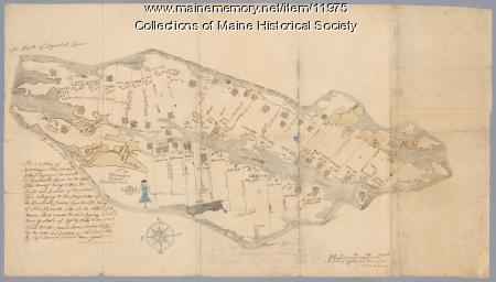 Plan of Ruscohegon Alias Parker's Island, Georgetown, 1759