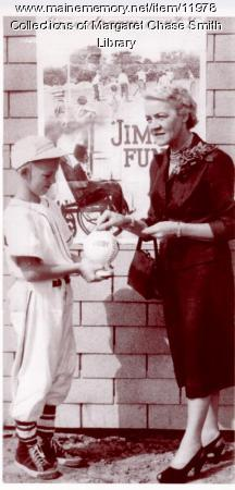 Margaret Chase Smith supports the Jimmy Fund
