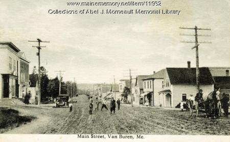Main Street, Van Buren, ca. 1910