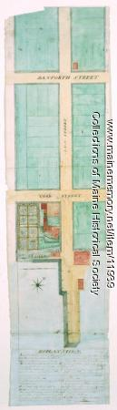 Plan of Ann (now Park) Street, Portland, ca. 1802