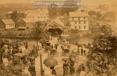 Celebration in Turner, ca. 1880