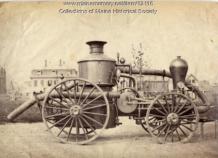 Falmouth #2 horse-drawn fire engine, 1861