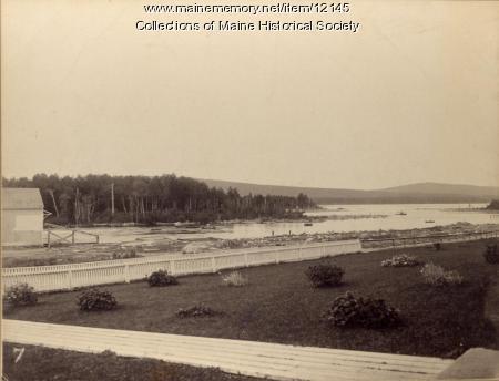 Grounds of Upper Dam House, Mooselookmeguntic Lake