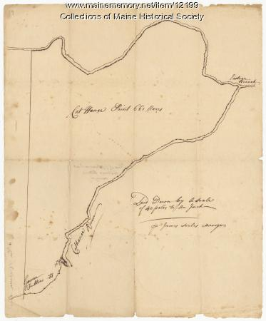 Plan of Cathance River, Bowdoinham, ca. 1740