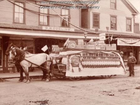 S.W. Collins Fourth of July parade float, ca. 1900