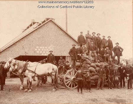 Hauling potatoes, Caribou, ca. 1890