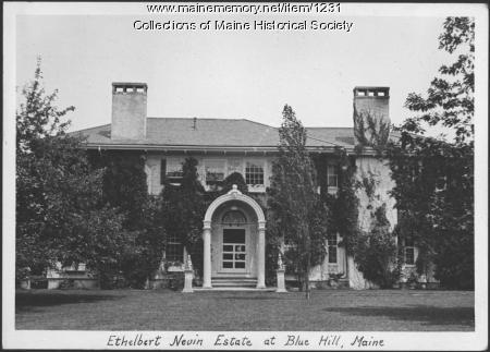 Ethelbert Nevin estate, Blue Hill, 1933
