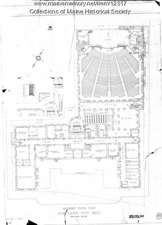 Portland City Hall basement, 1909