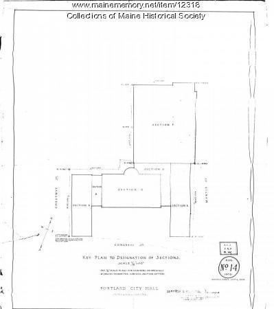 Portland City Hall plans, 1909