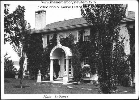 Entrance, Ethelbert Nevin estate, Blue Hill, 1933