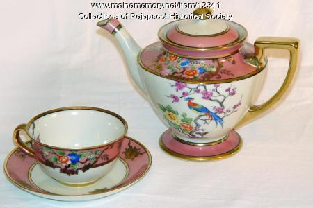 Skolfield tea set, Brunswick, ca. 1900