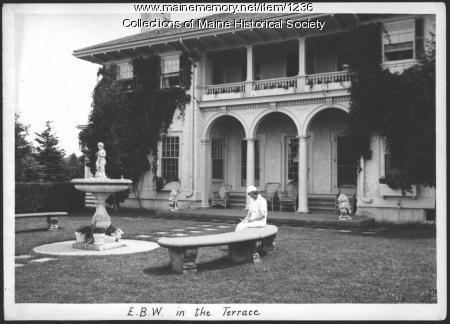 Emmie Bailey Whitney, Ethelbert Nevin estate, Blue Hill, 1933