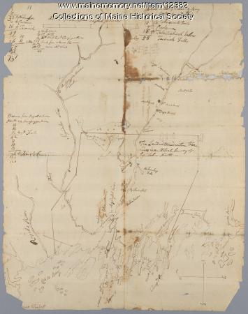 Plan of Kennebeck River, c. 1765