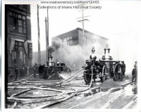 Fire, Brown's Wharf, Portland, 1903