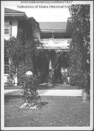 Patio entrance, Ethelbert Nevin home, Blue Hill, 1937