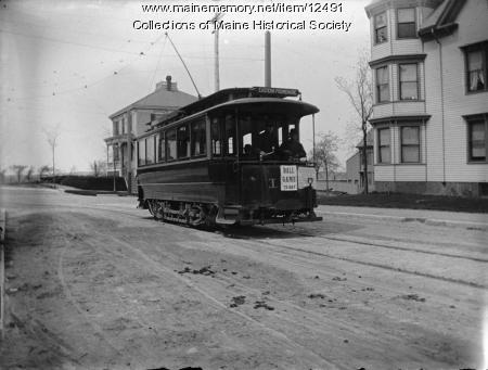 Trolley, Morning Street, Portland, c.a 1900