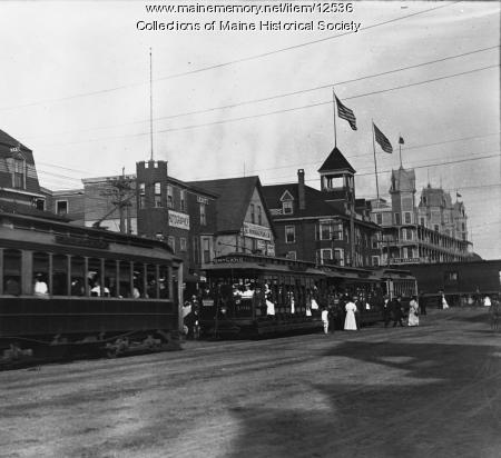Trolleys, Old Orchard Beach, 1907