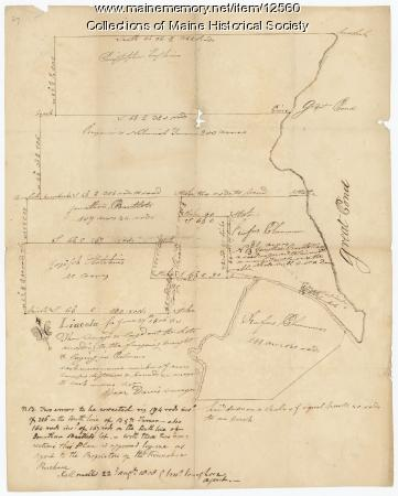 Plan of lots on Sheepscot Pond, Palermo, 1806