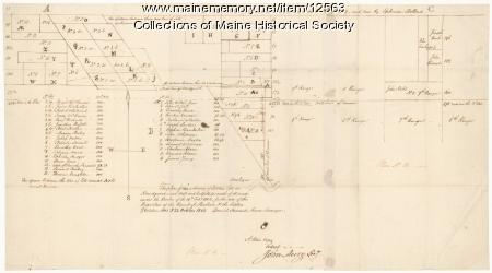 Survey of settlers' lots in Norridgewock, 1802 and 1803
