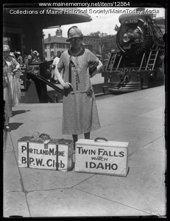 NFBWC Convention arrival, Portland, 1925