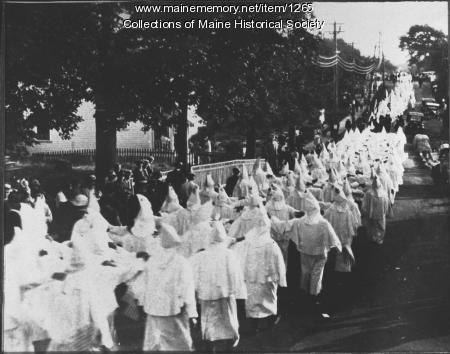 Ku Klux Klan procession,