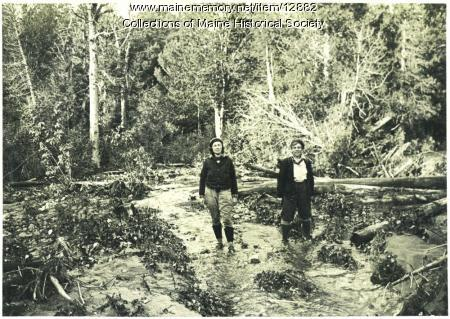 At a flooded Katahdin area, September 19,1932